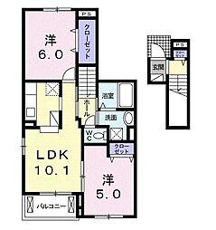 エスポワールReiwa[2階]の間取り