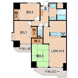 ライオンズマンション和歌山船戸1201号[12階]の間取り