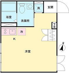 LAPiS原宿II 3階ワンルームの間取り
