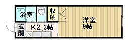 コーポラス・スカイワーク[203号室]の間取り