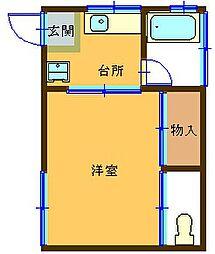 第5高尾荘[101号室]の間取り
