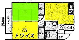 東京都青梅市師岡町2丁目の賃貸アパートの間取り
