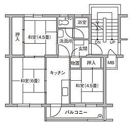 UR豊四季台[79-502号室]の間取り