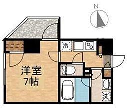 新築 オーギュメント牛込神楽坂[201号室号室]の間取り