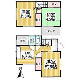 [一戸建] 東京都昭島市拝島町4丁目 の賃貸【/】の間取り