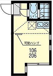 神奈川県川崎市川崎区渡田山王町の賃貸アパートの間取り