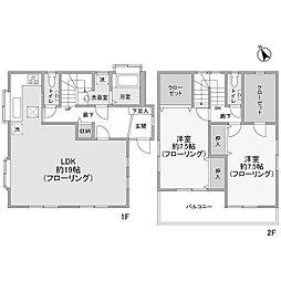 [一戸建] 神奈川県川崎市麻生区上麻生5丁目 の賃貸【/】の間取り