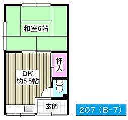 みずほ住宅[207号室]の間取り