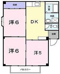サンフィールド A・B棟[2階]の間取り