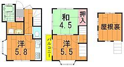 [テラスハウス] 千葉県柏市旭町2丁目 の賃貸【/】の間取り