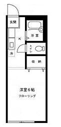東京都中野区中野4丁目の賃貸アパートの間取り