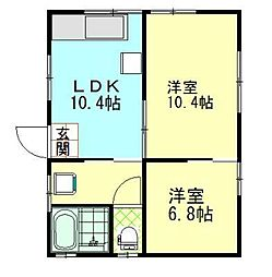 秋田県横手市大水戸町 [一戸建] の間取り