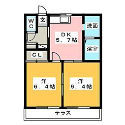 ウイングライフ21[1階]の間取り