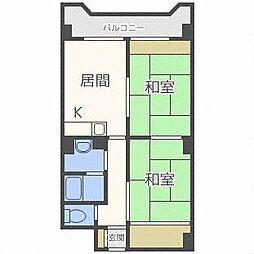 北海道札幌市厚別区厚別中央五条3丁目の賃貸マンションの間取り