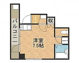 バス 早稲田団地郵便局前下車 徒歩1分の賃貸マンション 2階ワンルームの間取り