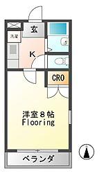 コーポHIRO[3階]の間取り