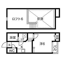 Creo中村公園弐番館[2階]の間取り