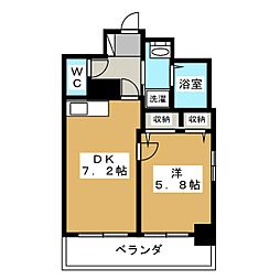 エステムコート京都烏丸[1階]の間取り