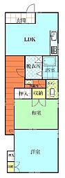 金沢アパート[1号室]の間取り