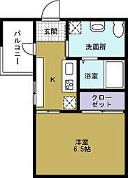 JJ COURT市岡元町[5階]の間取り