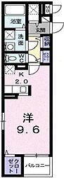 岡山県岡山市北区東古松3丁目の賃貸マンションの間取り