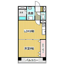 愛知県名古屋市港区宝神1丁目の賃貸マンションの間取り