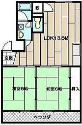 ニューハイツ赤坂[302号室]の間取り