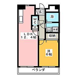 ピーノ ドゥーエ[2階]の間取り
