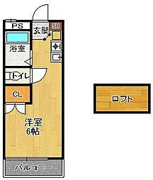 レオパレス夙川[2階]の間取り