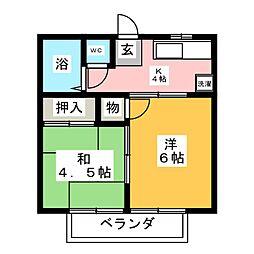シャトレ村上 A棟[2階]の間取り