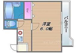 大阪府大阪市東成区東中本1丁目の賃貸マンションの間取り