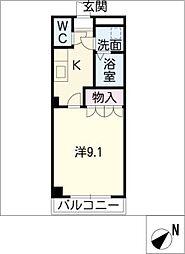クレストール[1階]の間取り