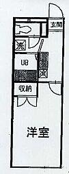 プレジールアンフルール[1階]の間取り