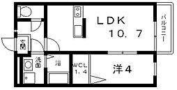 グレイス高見の里杉井[103号室号室]の間取り