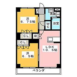 ボナールさくら[2階]の間取り