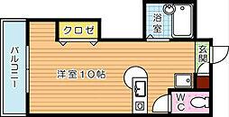 福岡県北九州市八幡西区陣山1丁目の賃貸マンションの間取り