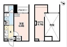兵庫県神戸市長田区浜添通5丁目の賃貸アパートの間取り