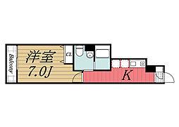 JR総武線 稲毛駅 徒歩6分の賃貸アパート 1階1Kの間取り