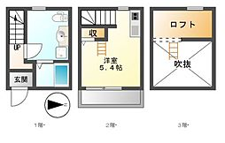 SAKURA白鳥[1階]の間取り