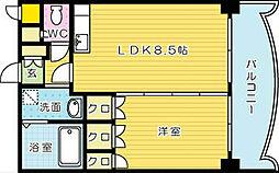 ロイヤルセンターBLD[405号室]の間取り