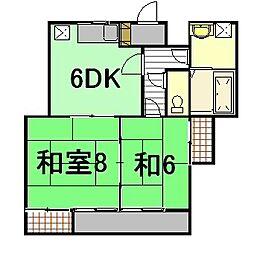 三宅ビル(2丁目)[3階]の間取り