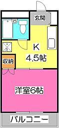 埼玉県所沢市青葉台の賃貸マンションの間取り
