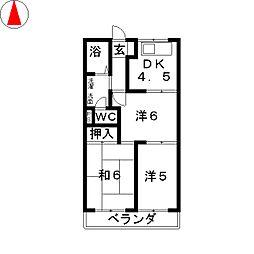 レジデンスTELLA[3階]の間取り