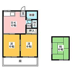 ニュー弥生 B[1階]の間取り