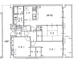 兵庫県姫路市西今宿5丁目の賃貸マンションの間取り
