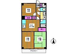 東京都練馬区北町2丁目の賃貸マンションの間取り