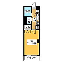 レジデンスカープ宇都宮[2階]の間取り