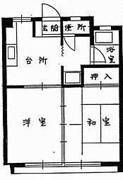 鳥取県米子市旗ヶ崎7丁目の賃貸アパートの間取り