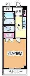 コート姫島[302号室]の間取り