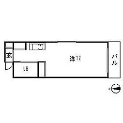 西山ハイツ[3階]の間取り